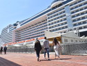 MSC Grandiosa, first cruise ship in Italy to resume operation after coronavirus lockdown (ANSA)
