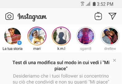 Instagram nasconde Like, al via test in Italia (ANSA)
